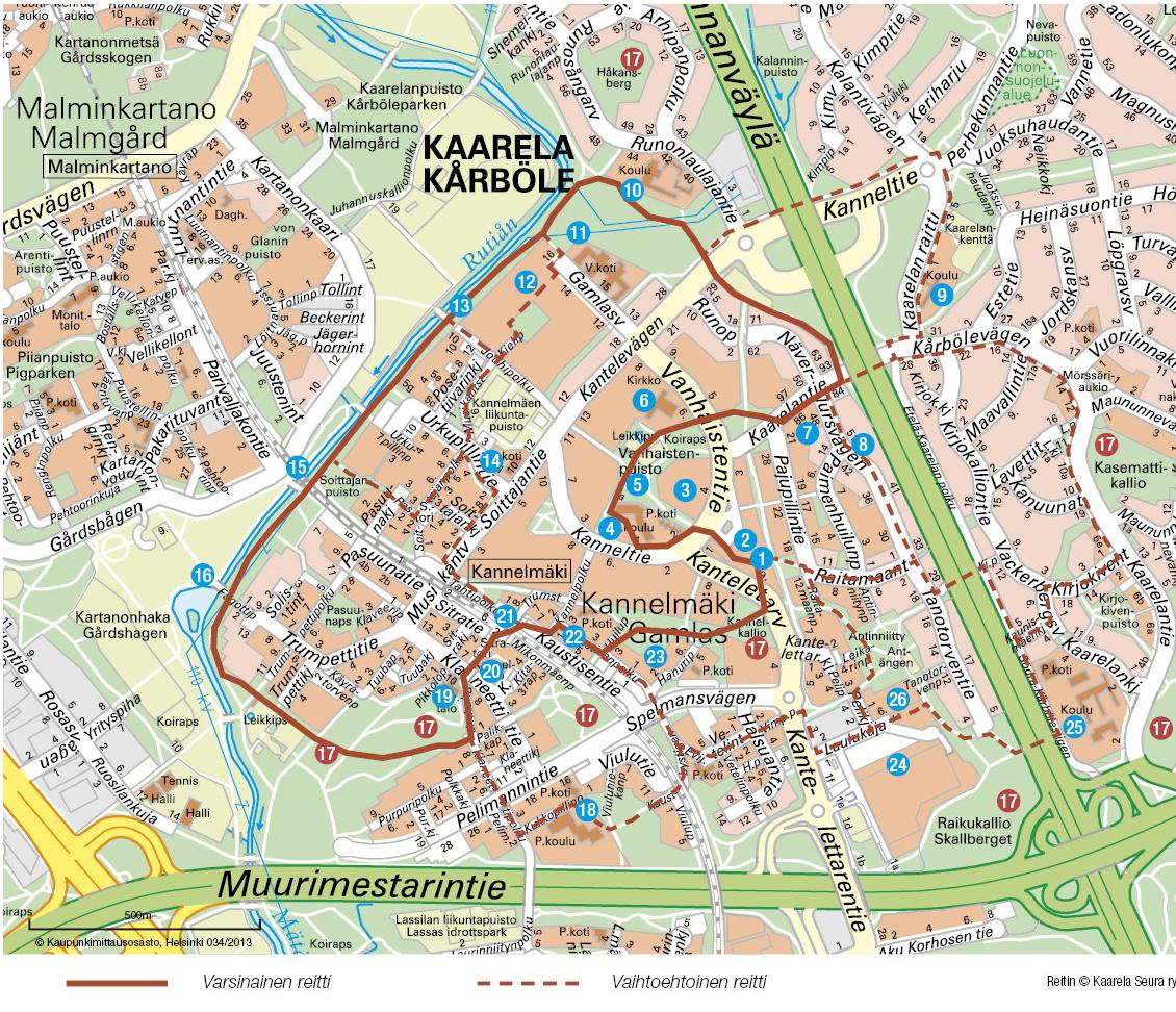 Kannelmaen Kotikaupunkipolku Kaarela Seura